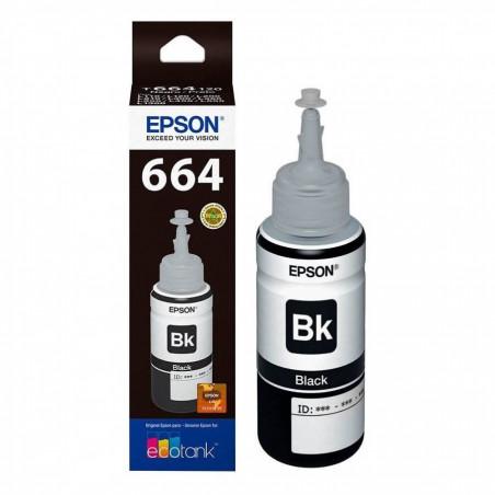 Epson T664120 Negro - Botella de Tinta