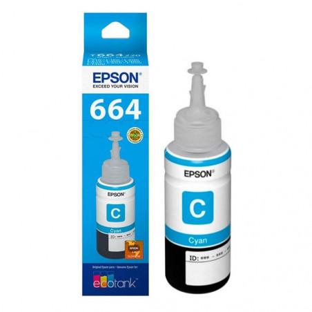 Epson T664220 Cian - Botella de Tinta
